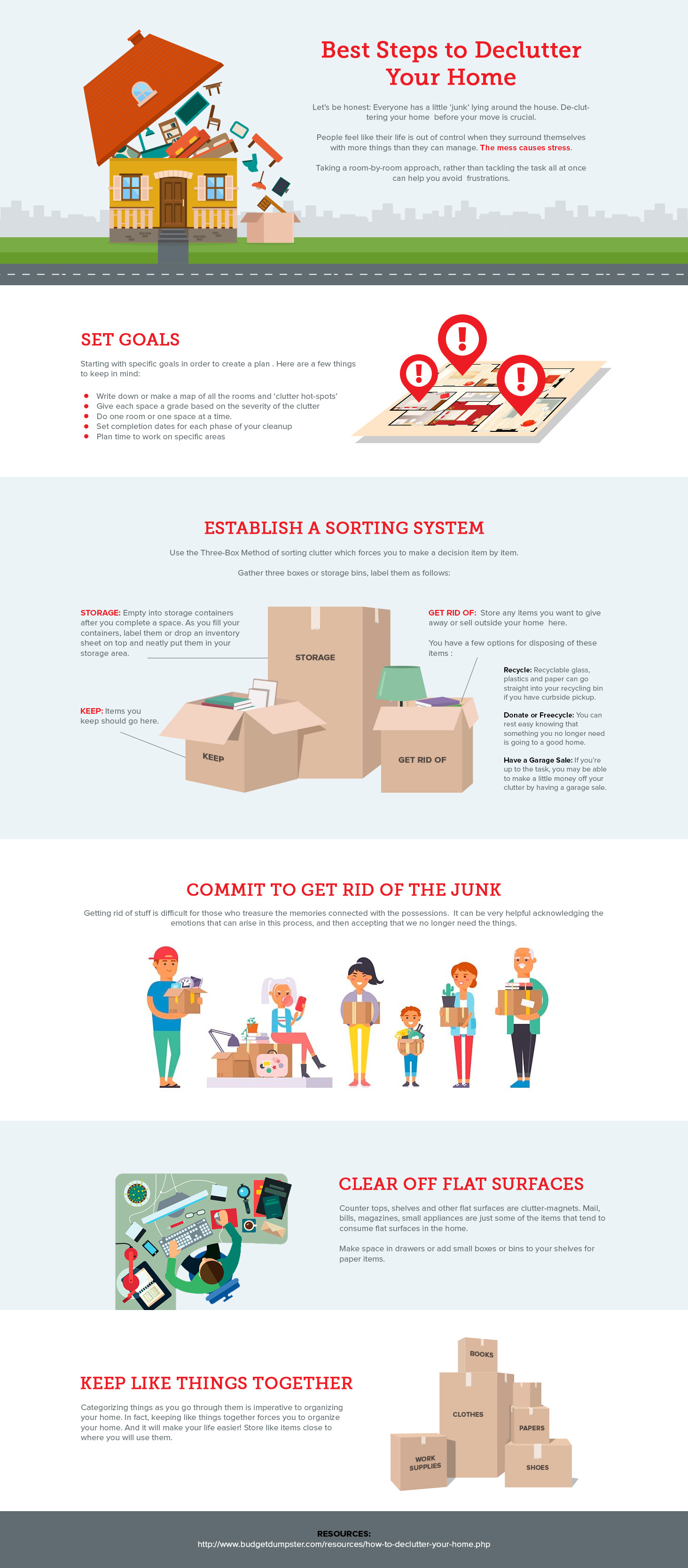 Make Moving Easier by removing clutter infographic