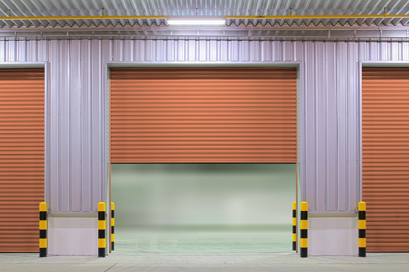 Commercial Roller Door brown