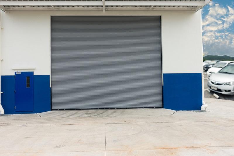 Commercial Roller Door grey
