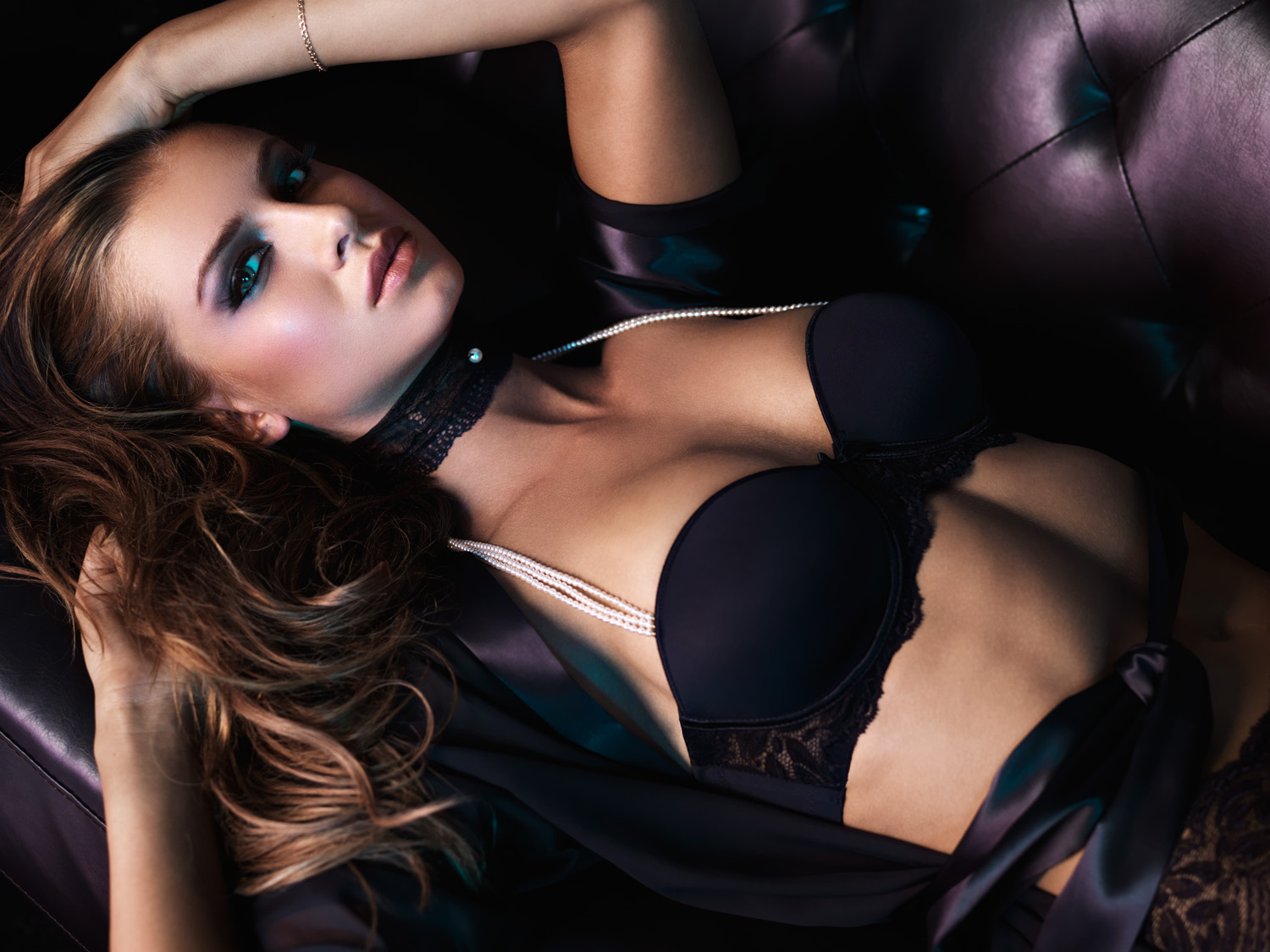 Appealing Lingerie woman lounging