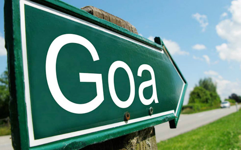 Goa Travel Information sign this way