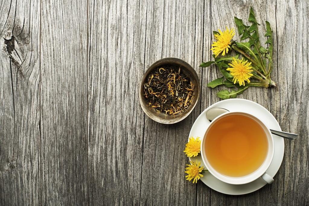 weight loss detox tea on table