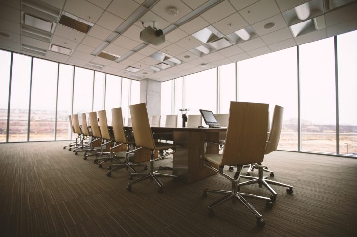 Vinyl Plank Flooring boardroom chairs