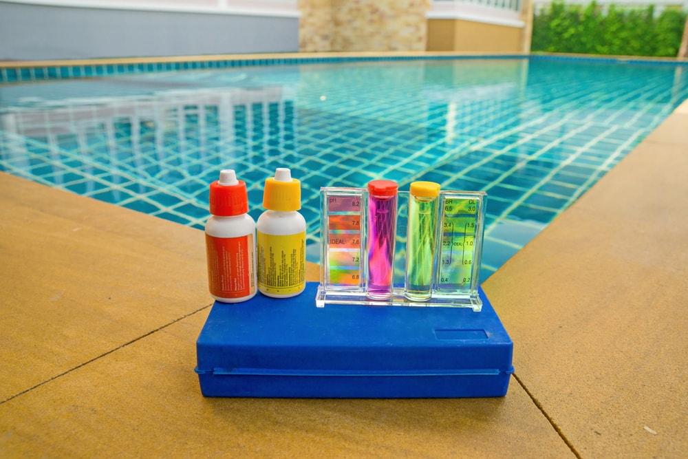 swimming pool chemical usage