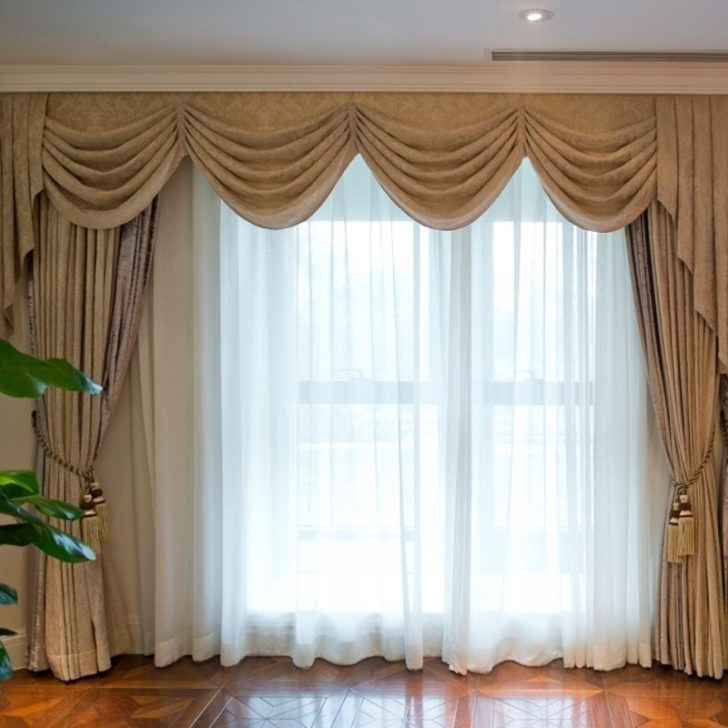 Curtains brown for the home
