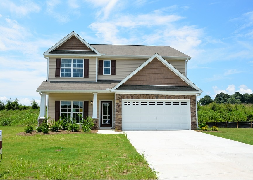 New Home with long driveway