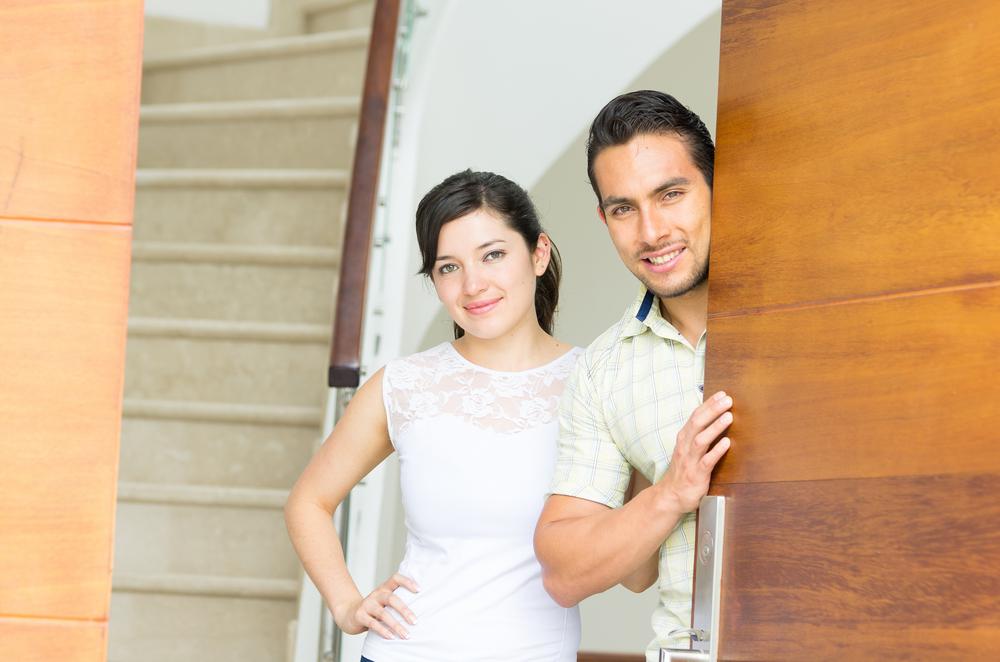 Security Doors For Home couple in doorway