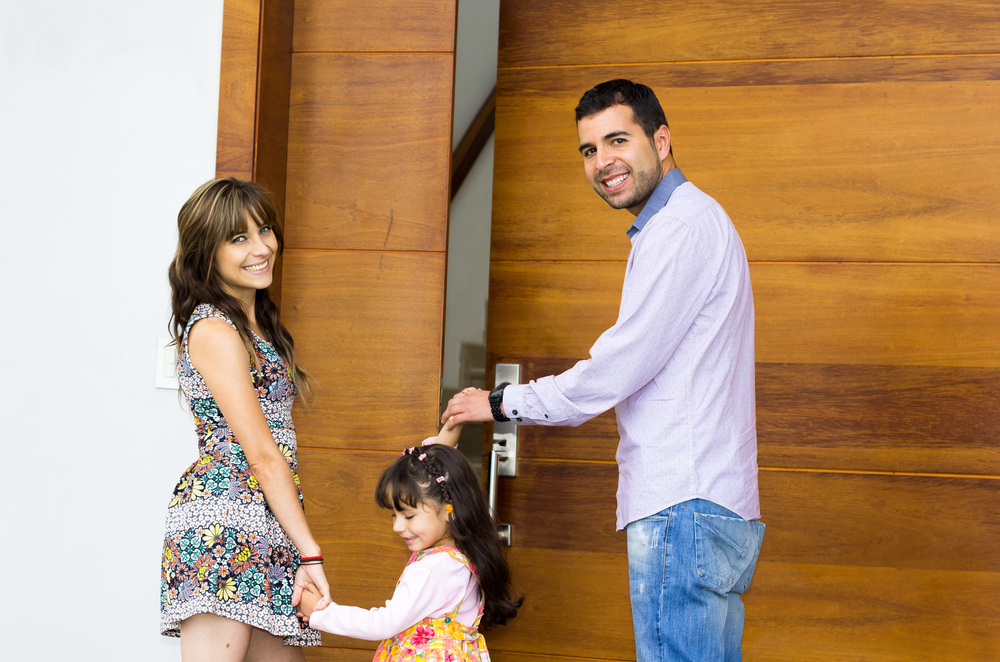 Security Doors For Home young family together