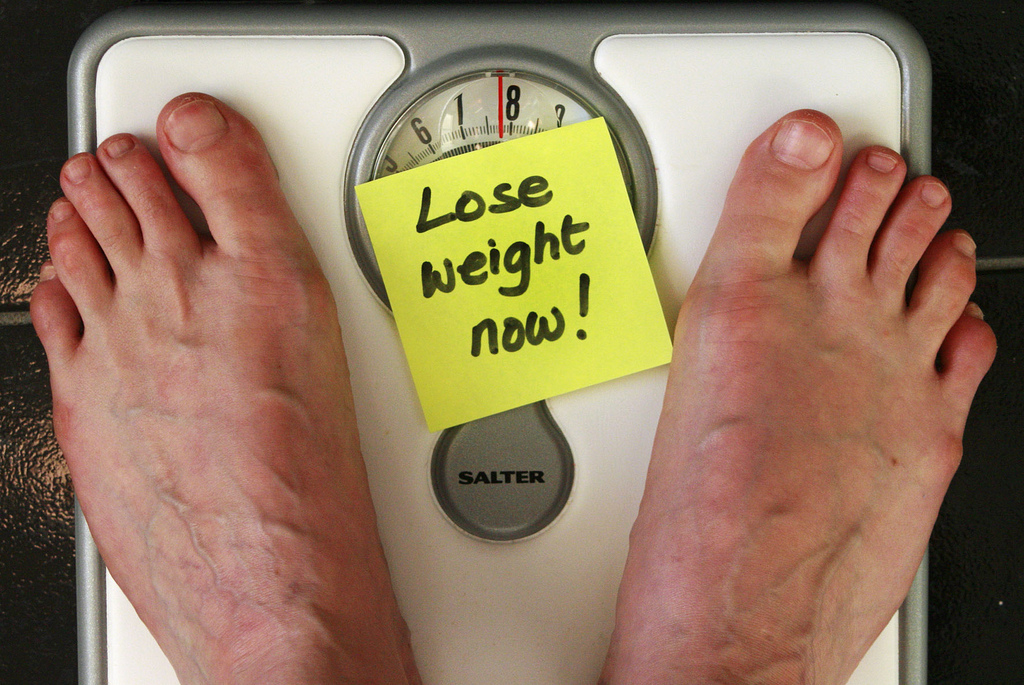 Gain Weight stress on scale