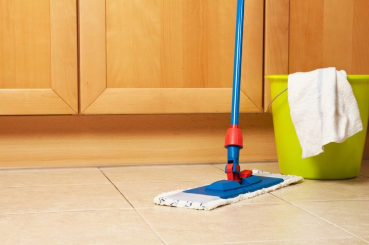 ceramic tile floors mop kitchen