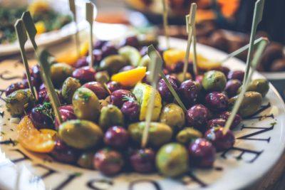 Olive Oil olives on plate
