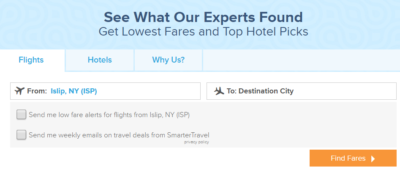 Cheap Airfare search
