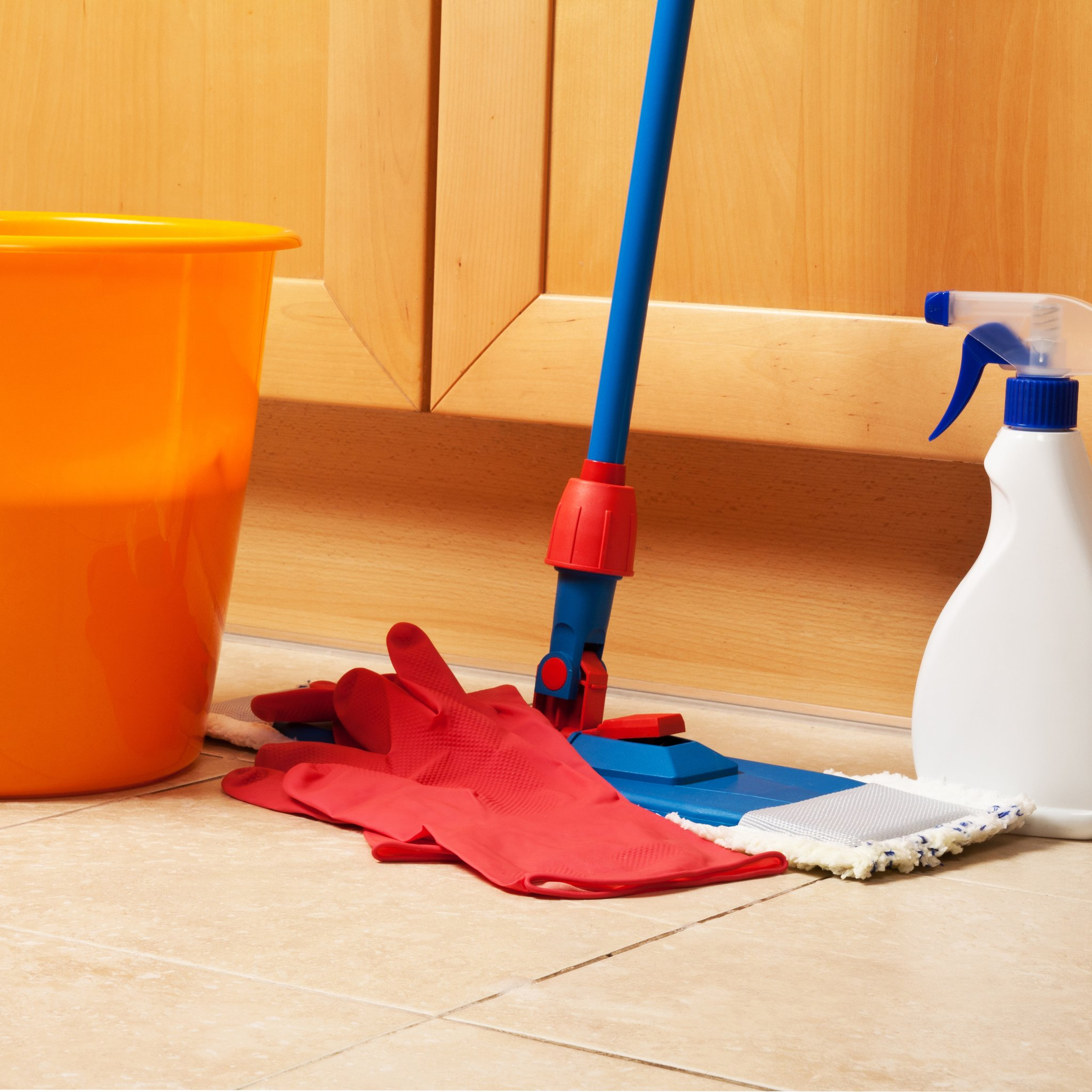 ceramic tile floors mop bucket