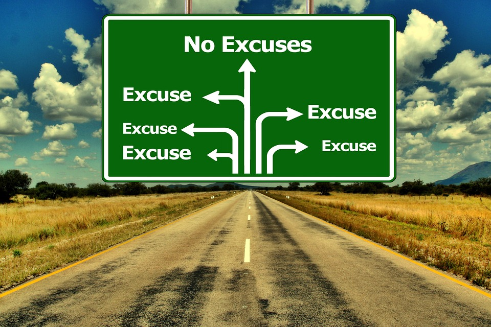 Want A Change In Your Life no excuses street sign