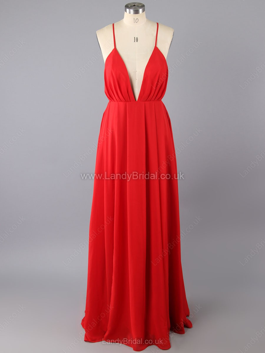 Wedding & Bridal Party bright red dress
