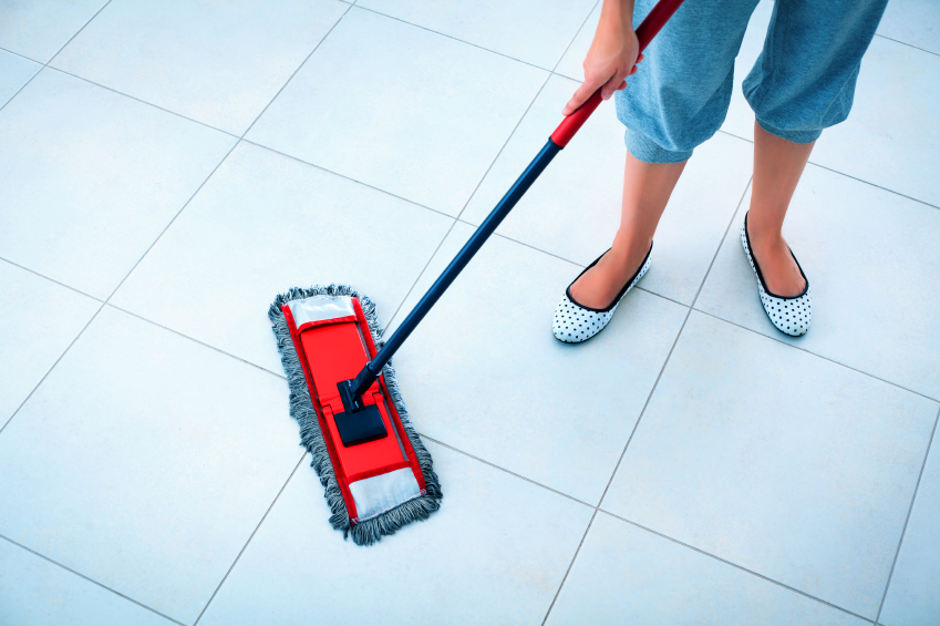 ceramic tile floors mopping