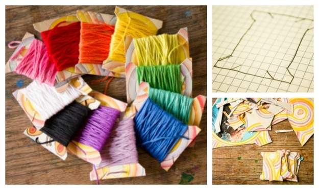 DIY Creative Ideas yarn spools