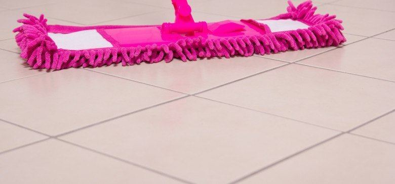 ceramic tile floors pink mop