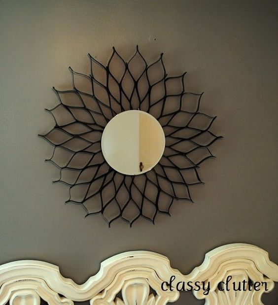 DIY Creative Ideas hanging mirror