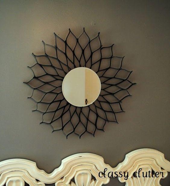DIY Creative Ideas hanging mirror