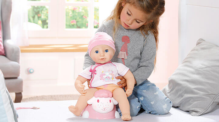 Annabell Doll baby being played with