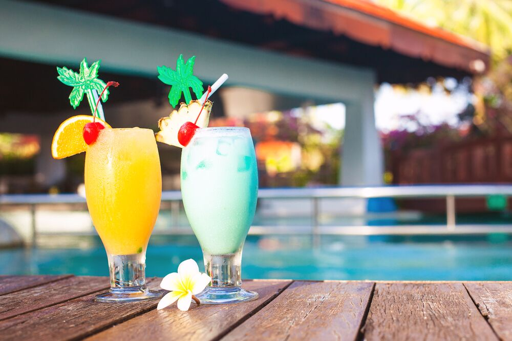 Summer Pool Party cocktails by the pool