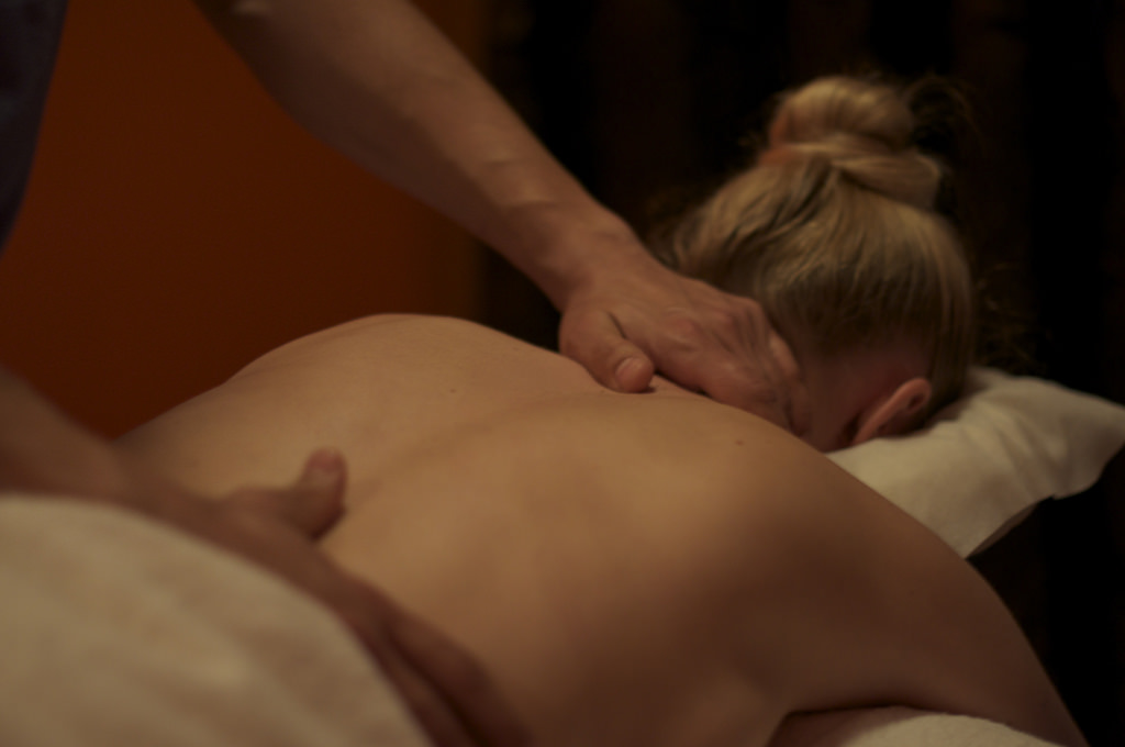 Massage benefits lady