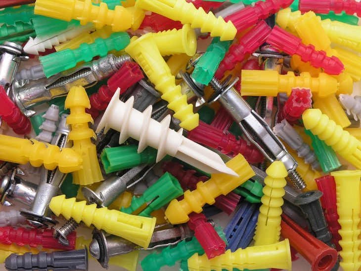 Fasteners bright colors