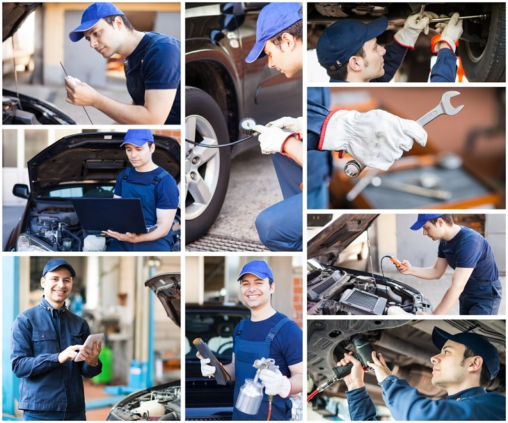 Car Mechanic collage of pictures