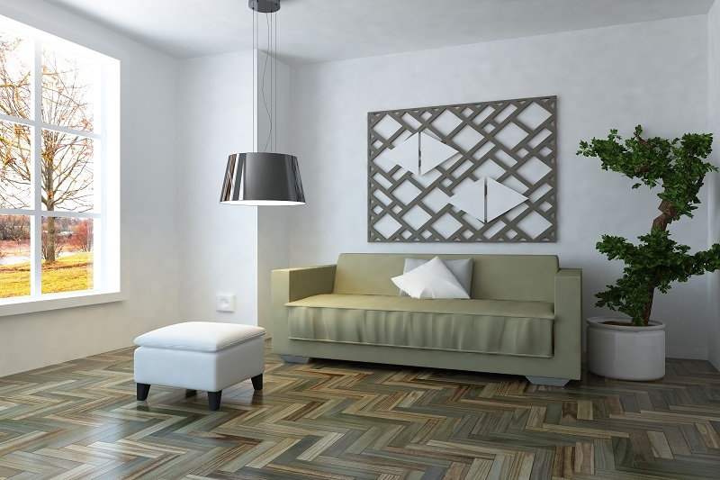 Timber Flooring with couch