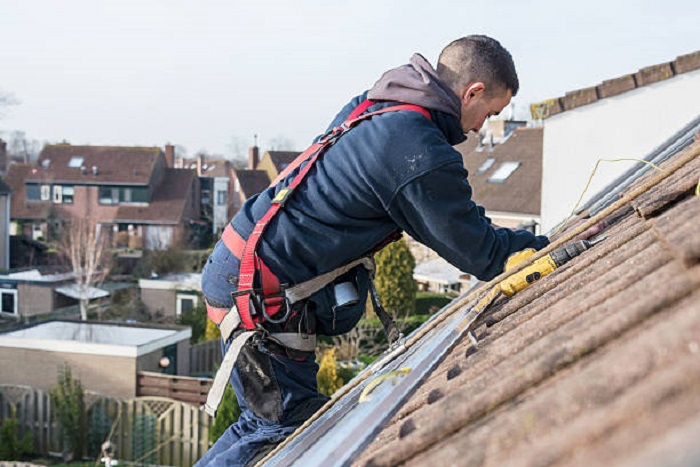 roof repairs up top on roof