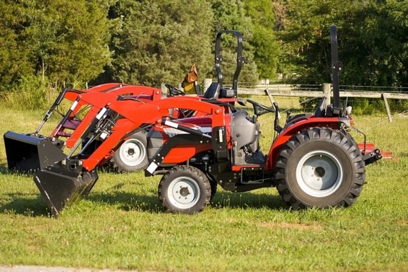 Tractor for Farming Work red