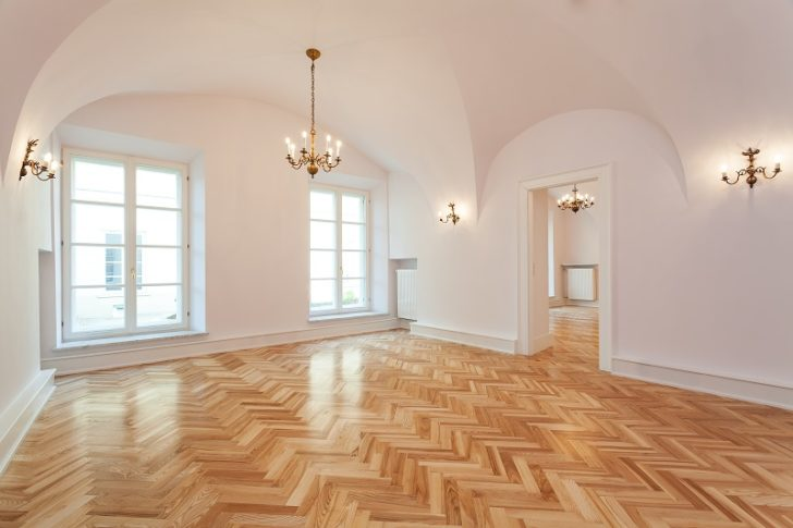 Timber Flooring zig zag pattern