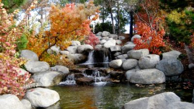 Landscaping Upgrades waterfall with stones