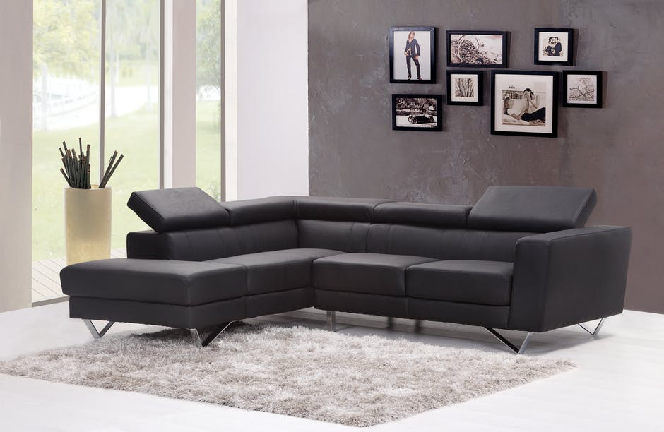 renting Furniture advantages black couch