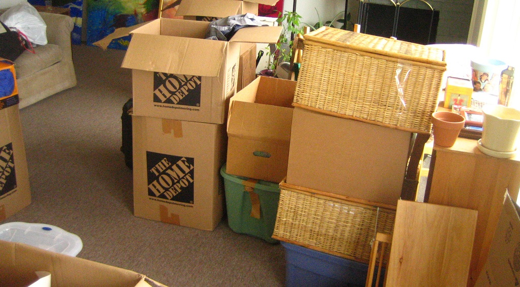 relocation with boxes