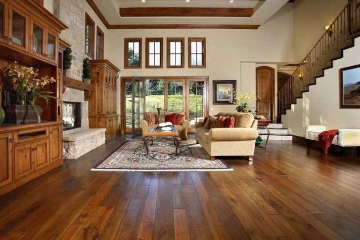 timber floors in home