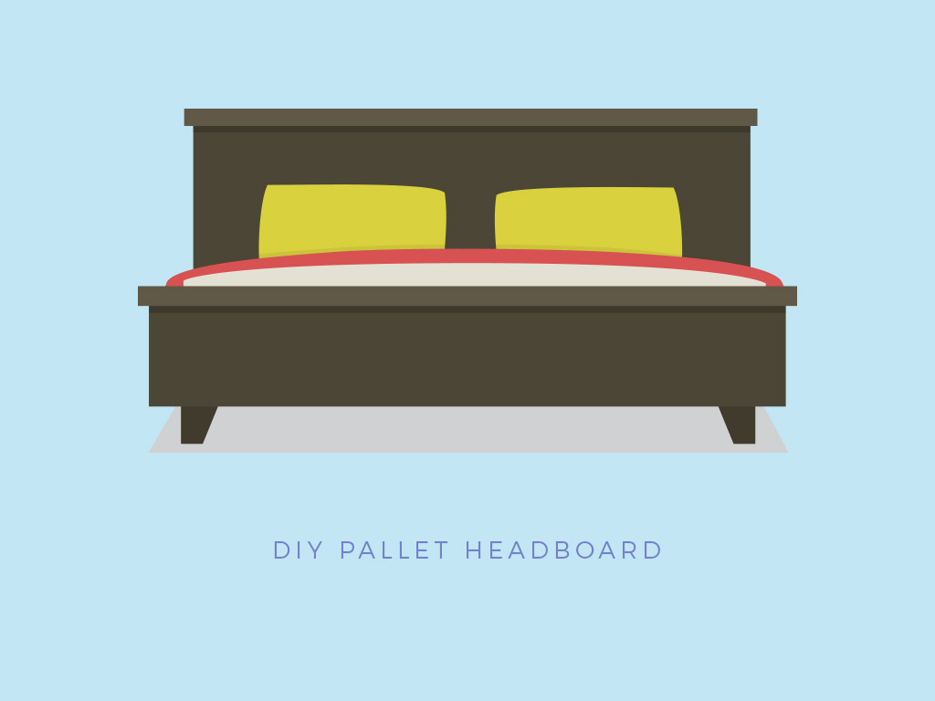pallet project bed headboard