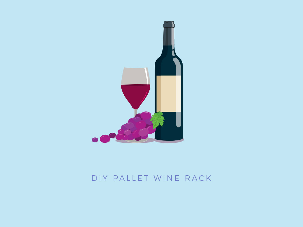 pallet project wine rack for home