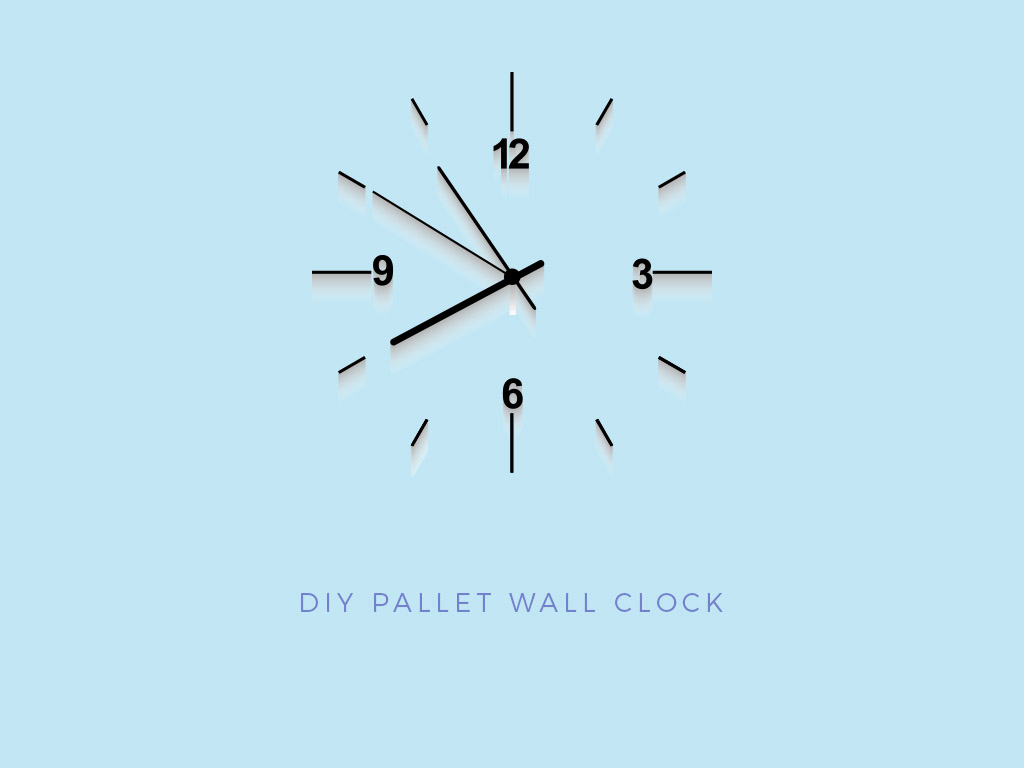 pallet project home wall clock
