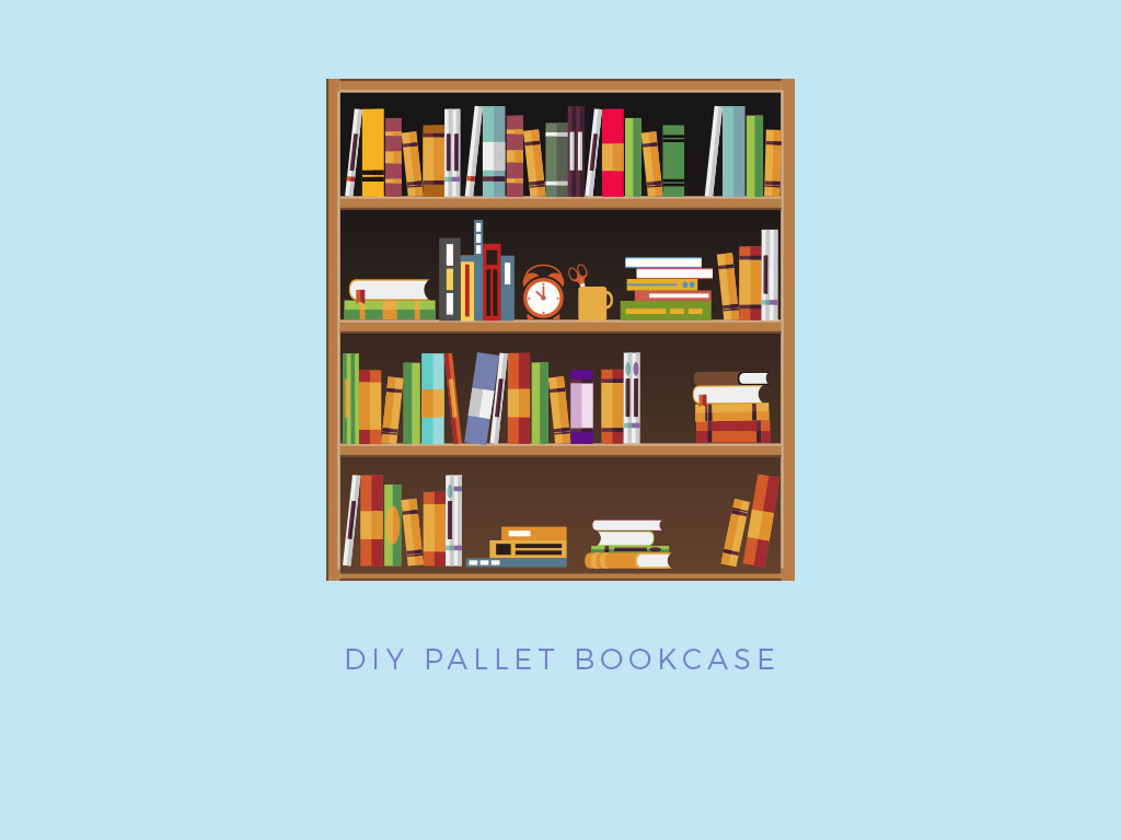 pallet project homemade bookcase
