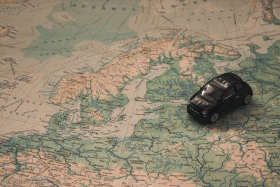 Top 5 Tips for Students Traveling in Europe car on map