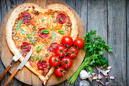 DIY Recipe: Making A Healthy Veggie Pizza At Home heart shaped