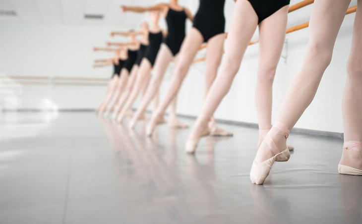 Ballet Classes lineup of ballerinas in class
