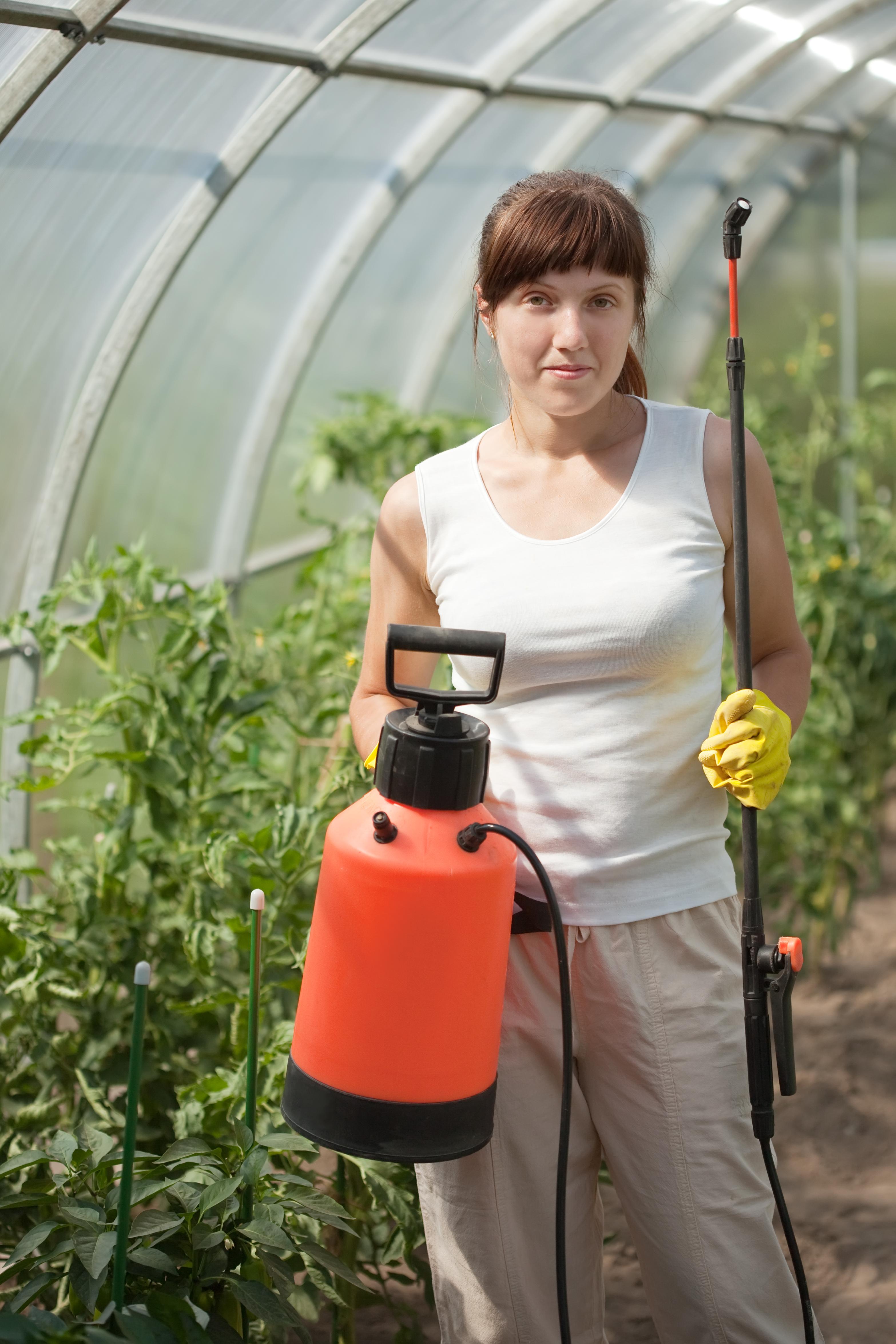 Home Repair pest control female gardener