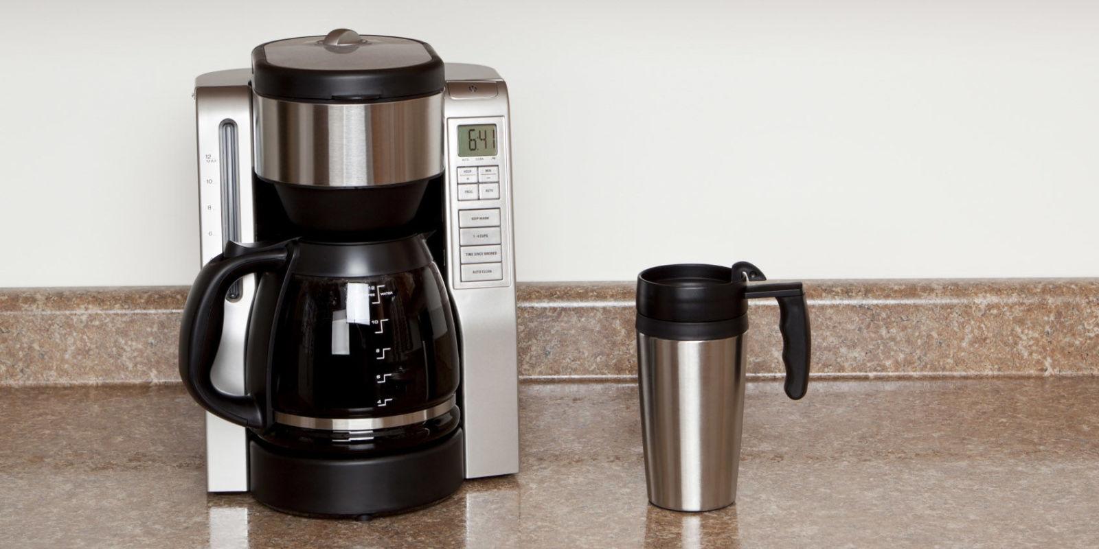 Coffee Makers and yeti mug on counter