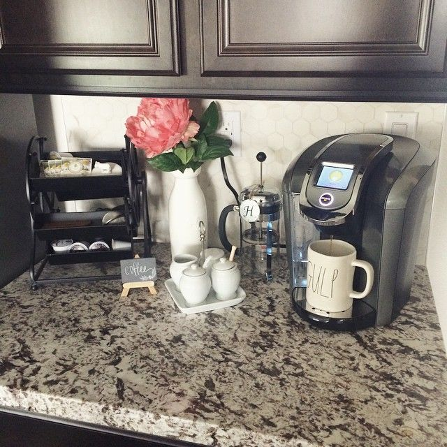 Coffee Makers on kitchen counter