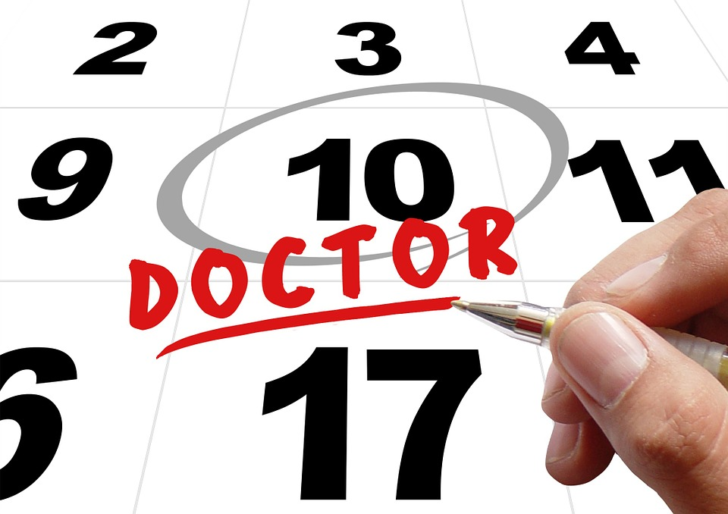 Doctor avoiding on calendar