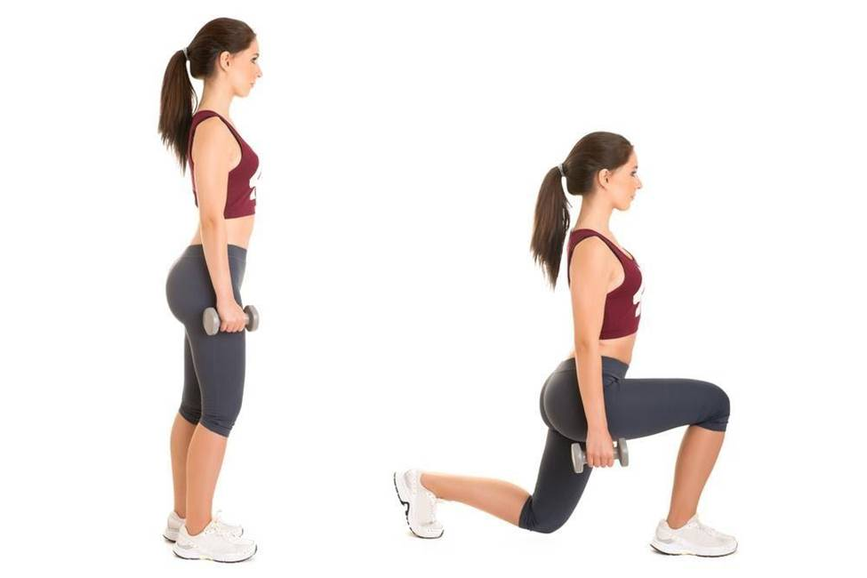 essential one legged lunges