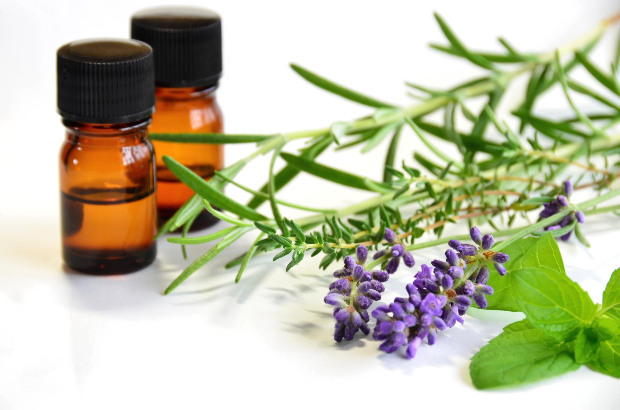 natural essential oils bottles